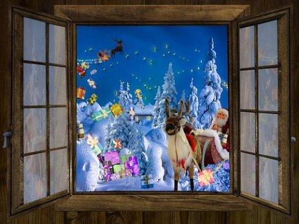 christmas - santa through the window