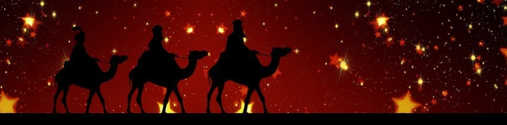 christmas wise men on camels